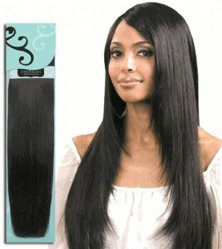 Bobbi Boss IndiRemi 100% Virgin Human Hair Weave - Fine Silky (12 inch, 1 - Jet Black)