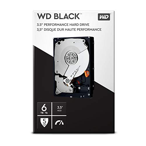 WD Black Performance Desktop Hard Disk Drive da 6 TB, Kit Retail Box, 7200 RPM, SATA 6 Gb/s, Cache 64 GB, 3.5""