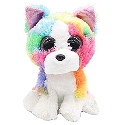 Big Eyes 15cm kleurrijke Huskies knuffel Hondenspeelgoed voor kinderen en meisjes Kerstmis