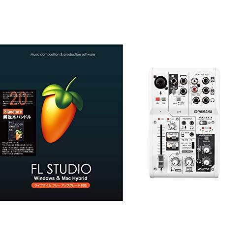 セット買いImage-Line Software FL Studio 20 Signature 解説本バンドル EDM向け音楽制作用DAW Mac Windows対応国内正規品 & ヤマハ YAMAHA ウェブキャスティングミキサー オーディオインターフェース 3チャンネル AG03 インターネット配信に便利な機能付き 音楽制作アプリケーションCubasis LE対応