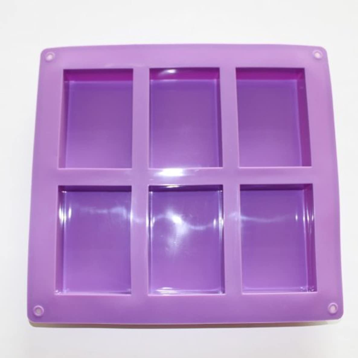 X-Haibei Plain Basic Rectangle Soap Mold Silicone HP Soap Lotion Bar Making Mould Supplies