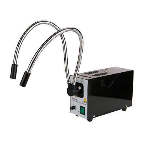 AmScope HL250-BY 150W Fiber Optic Dual Gooseneck Illuminator for Microscopes