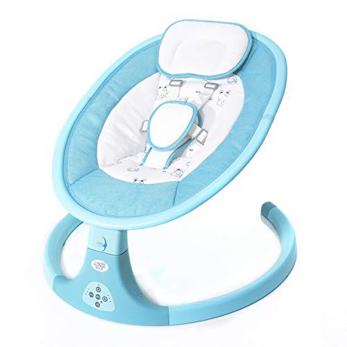 Set Wippe Baby Rocker & Windel Blaubaer, Elektrische Babywippe, zusammenklappbare und tragbare Babyschaukel, Wippe mit Gestell, Spielbogen, Babywiege ab 0 kg bis 16 kg