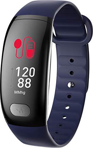 Lirui057 Fitnessarmband met bloeddrukmeting, metalen armband, IP67-waterdicht FitnessECG + PPG gecombineerd om de hartfunctie te testen, slaapbewaking activiteitstracker voor mannen en vrouwen