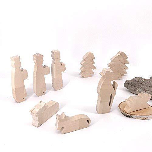 Die heiligen drei Könige - handgefertigte Krippenfiguren aus Holz - Weihnachtsgeschenk, Nikolaus
