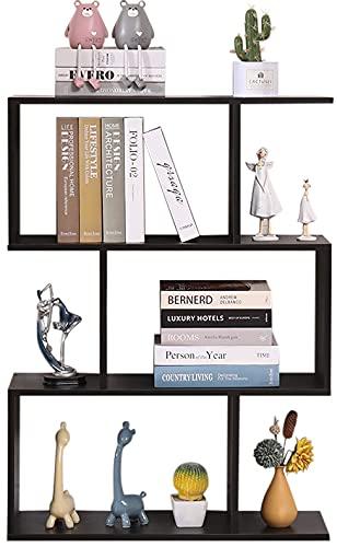 Etnicart - Libreria Scaffale Wenge Ufficio Moderna Contemporanea Bifacciale Divisorio Legno Casa Giorno 70x23.5x96 Autoportante Mensole Scaffali Cubi Muro Design Ingresso Soggiorno-