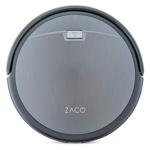 ZACO A4s - Robot aspirador con sistema de limpieza CyclonePower con diversos modos de aspiración, limpieza profunda de alfombras y todo tipo de suelos, delgado y silencioso, color Gris Titanio
