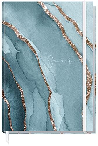Bullet Journal Dotted A5 con banda de goma [Watercolor Waves] 156 páginas, cuaderno de puntos, diario de Trendstuff by Häfft | sostenible y climáticamente neutral