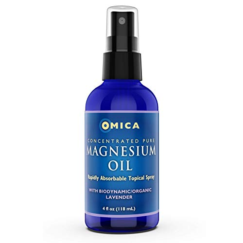 Magnesium Oil Spray with Biodynamic Lavender - from Ancient Inland Pure Ocean Minerals - High in Magnesium Chloride - with Lavender Hydrosol - 118ml (1)