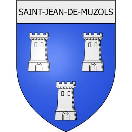 Saint Jean-de-Muzols 07 City Sticker wapen zelfklevend 8 cm