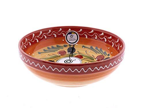 CERÁMICA RAMBLEÑA | Ensaladera cerámica | Ensaladeras Originales | Ensaladeras decoración roja...