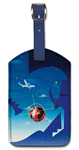 Pacifica Island Art Leatherette Luggage Baggage Tag - Globetrotter by Vilató