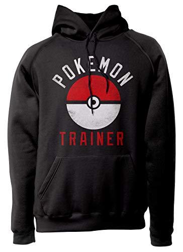 LaMAGLIERIA Unisex-Hoodie Pokemon Trainer - Kapuzenpullover, M, Schwarz