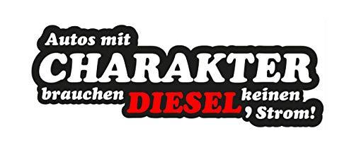 Aufkleber Autos mit Charakter Motiv Diesel JDM Feinstaub OEM Plakette Fun Lustig Oldschool Oldtimer Stickerbomb Umweltplakette Feinstauberzeuger Strom E-Auto