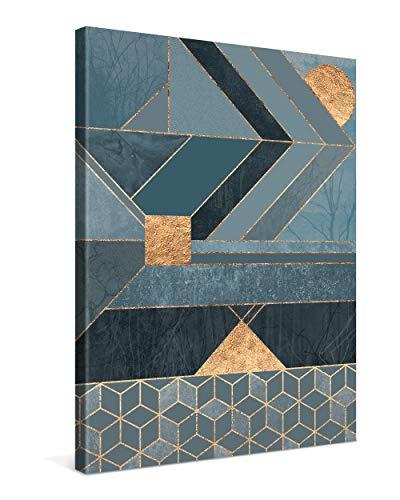 PICANOVA – Nordic Blue 75x100cm – Premium Leinwanddruck – Kunstdruck Auf 2cm Holz-Keilrahmen Für Schlaf- Und Wohnzimmer Von Elisabeth Fredriksson