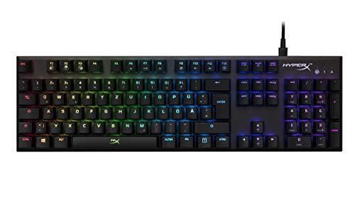 HyperX Alloy FPS RGB clavier USB QWERTZ Allemand Noir - Claviers (Avec fil, USB, Clavier mécanique, QWERTZ, LED RGB, Noir)