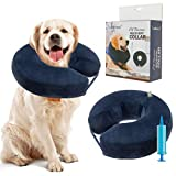 SCENEREAL Inflatable Recovery Collar for Dogs & Cats - Surgery Dog Collars E-Collar for Preventing Pets from Biting Licking Wound, M