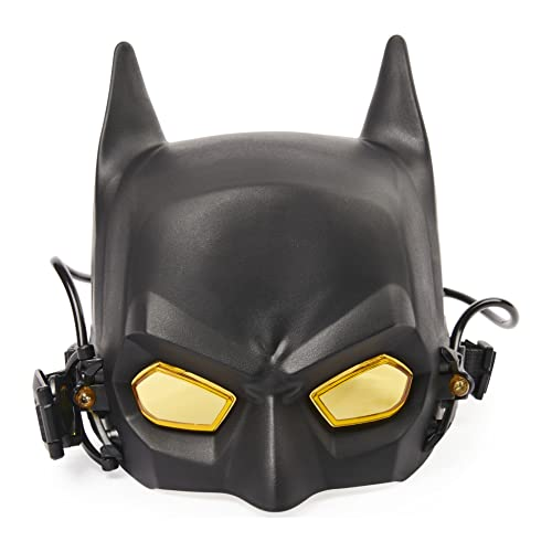 DC Comics Batman Role-Play Tech Mask with Lights and Magnification Lens, for Kids Aged 4 and up