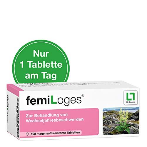 femiLoges® - 100 Tabletten - Hormonfreie Unterstützung in den Wechseljahren - Belegte Wirksamkeit bei typischen Wechseljahresbeschwerden wie Hitzewallungen