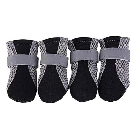 HXKJ Zapatos para Perros Mascotas protección contra la Lluvia Botas de Lluvia Calcetines Antideslizantes Transpirables duraderos Material acrílico cómodo Protege Las Patas de Las Mascotas
