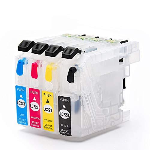 Teng® cartuchos de impresora vacíos rellenables de reinicio, compatibles con Brother LC223 para Brother MFC-J5320DW DCP-J4120DW MFC-J480DW MFC-J5720DW MFC-J5625DW MFC-J4620DW MFC-J4420DW MFC-J880DW