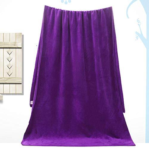 Lyolk Toallas de Cama para Adultos, Toallas absorbentes Suaves-Dark Purple_100 * 200
