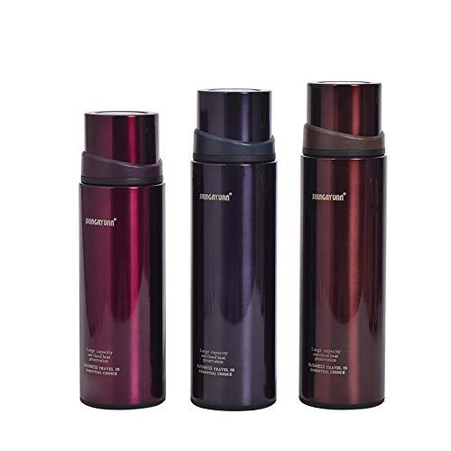 WENSISTAR Senator Isolierflasche,Große Kapazität Edelstahl-Isolierflasche, Outdoor-Sport-Wasserbecher, Prallabdeckung Auto Wasserkocher @ Purple_530ML,Thermosflasche