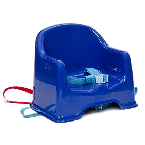 Vital Innovations 06014:asiento elevador con correas de fijación y bandeja, color azul/roj