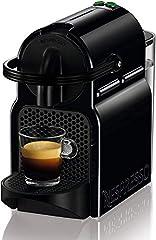 Idea Regalo - De'Longhi Nespresso Inissia EN80.B Macchina per caffè espresso, a capsule, 1260 W, 1 Tazza, 14 Decibel, 19 bar, Plastica, Nero (Black)