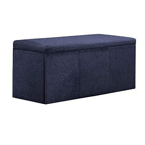 Adec Baul Universal tapizado en Elegance Marengo, Medidas 90 x 40 x 40 cm
