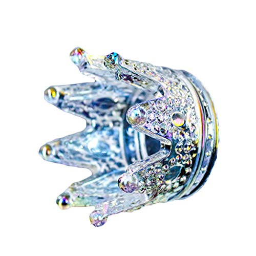 BIGBOBA Glaskerzenhalter Kreativ Kerzeneinsatz Krone Kerzenständer Glänzend Kandelaber Teelichthalter für Hochzeit, Party, Heimtextilien, 3#