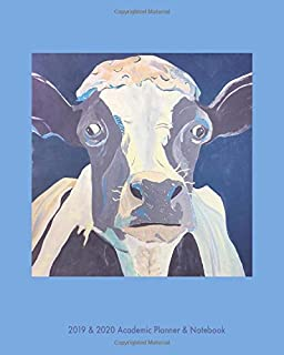 Blue Cow 2019-2020 Academic Planner & Notebook: 8/1/2019 through 12/31/2020 includes weekly planner and 50 page notebook.