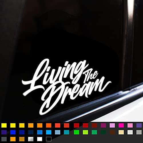 Fear7FX Living The Dream Sticker Decal, Funny Car Window Bumper Sticker,...