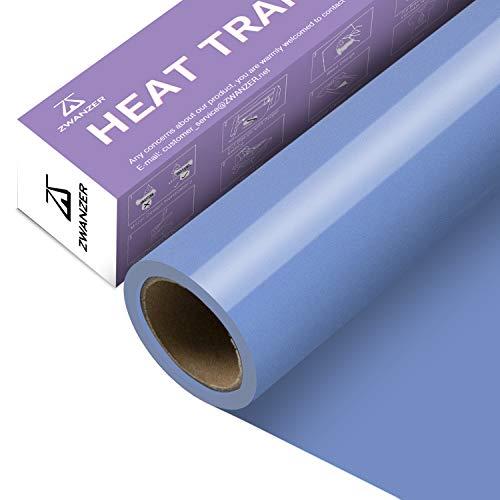 Zwanzer Plotterfolie Textil,30.5cm× 3.66m Flexfolie für Cricut und Silhouette Cameo,Verwendet in DIY-T-Shirt-Kleidung und Anderen Stoffen (Himmelblau)