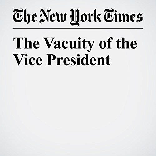 The Vacuity of the Vice President copertina