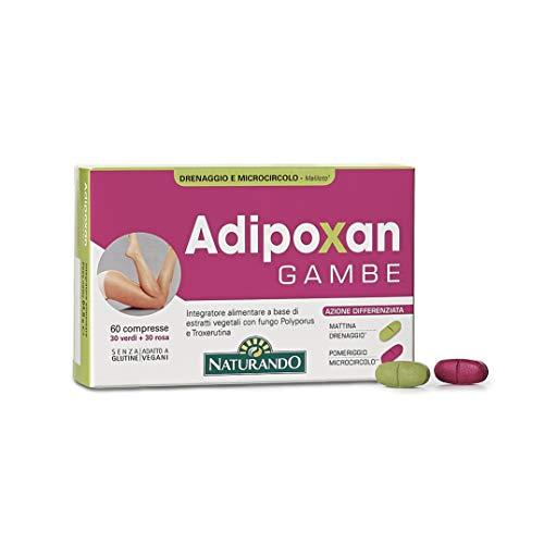 Naturando srl Naturando ADIPOXAN GAMBE - Blister 60 comprimidos - Para piernas hinchadas, piernas pesadas y celulitis 64 g