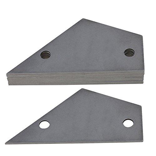 bqlzr Gitarre einstellen Repair Bünde Leveling Checker Carbon Stahl Bund Rocker Griffbrett Board Gitarrenbau-Werkzeug 10Stück