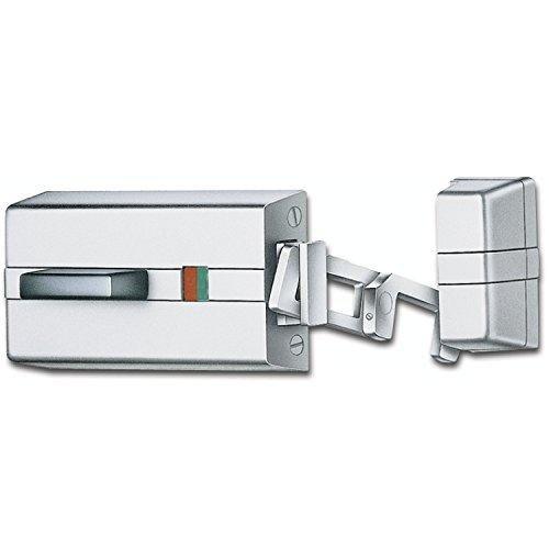 EVVA K900 Tür-Zusatzschloss - Tür Kastenschloss mit Sperrbügel, Feuerschutz und Rauchschutztüren geeignet, silber, DIN Links / Rechts umsellbar, mit 5 Schlüssel + Sicherungskarte