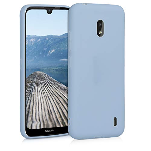 kwmobile Hülle kompatibel mit Nokia 2.2 - Hülle Silikon - Soft Handyhülle - Handy Hülle in Hellblau matt