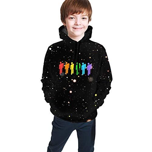 Sudaderas con capucha para niños Billie Ei-Lish Rainbow Blohsh 3D Print Sudaderas con capucha de dibujos animados Niños Niñas Sudadera Unisex Pullover Sudaderas