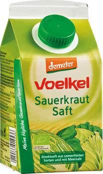 Voelkel Bio Sauerkrautsaft - Direktsaft, milchsauer vergoren (6 x 500 ml)