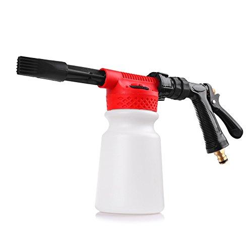 Viitech Pistola de cañón de Espuma Ajustable 900 ml, dispensador de jabón Adaptador