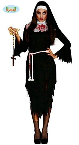 Zombie Nonne für Damen Gr. M/L, Größe:L