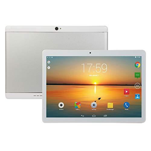 FJYDM Tableta De 10.1 Pulgadas, Tableta con Procesador Octa-Core, 2GB RAM, ROM De 32GB, Tableta con Pantalla IPS, Bluetooth 4.0, Pantalla De Vidrio, Carcasa De Metal,Blanco