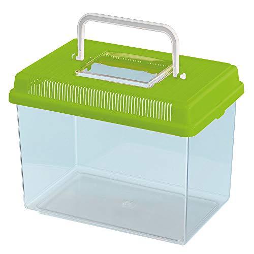 Ferplast Aquarium aus Kunststoff für Fische GEO Medium Tank 2,5 L Behälter für Kleintiere Aquarium Terrarium Insekten Schildkröten, Robuster Kunststoff, 23,2 x 15,3 x 16,6 cm, grün