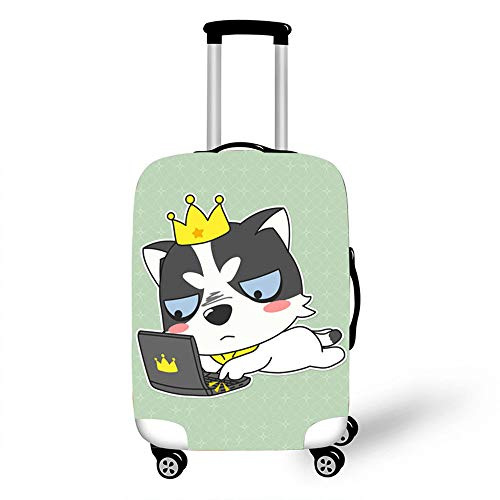 Elastic Luggage Cover, CNNINHAO 3D Print Trolley Case Protective Travel Suitcase Anti Scratch Dustproof Resistant Case Trolley Skin Protector Elasticized Washable (5,XL (30-32inch))