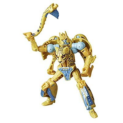 Transformers Toys Generations War for Cybertron: Kingdom Deluxe WFC-K4 Cheetor Action Figure - Kids Ages 8 and Up, 5.5-inch from Hasbro