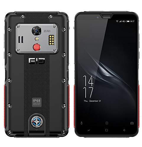ELEPHONE Soldier Teléfono Móvil Libre, IP68 Android 8.0 (4G LTE),Pantalla QHD 2K de 5.5 Pulgadas (2560 * 1440x), Impermeable/A Prueba de Polvo, Helio X25 Deca Core de 2.5GHz 4GB + 64GB