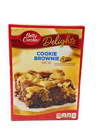 Betty Crocker, Cookie Brownie Supreme Bars Mix, 19.5oz Box (Pack of 2)