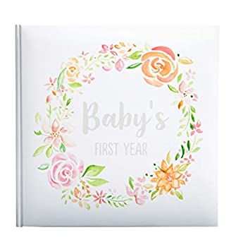 Kate & Milo Floral Baby s First Year Memory Book Baby Milestones Photo Album Trendy Baby Girl Gift